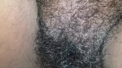 Cream pie for  hairy bbw..