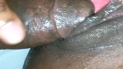 Nasty black bitch squirting..