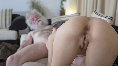 White hair old man fucks..