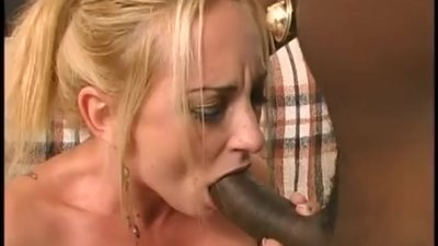 Interracial blond pussy..