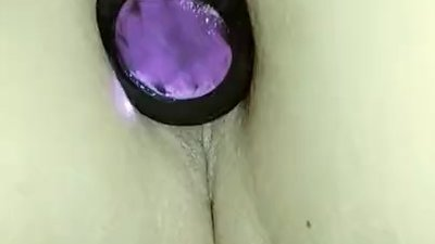 New butt plug, stretched..