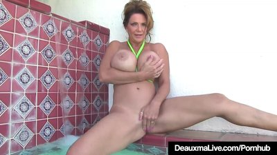 Busty Cougar Deauxma Rubs..