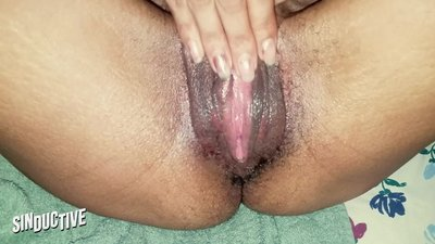 Step Mom Rubs BIG WET CLIT..