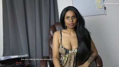 Sexy Indian Boss blackmails..