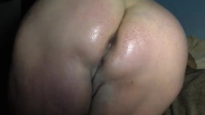 BBW Oiled Ass Spanking