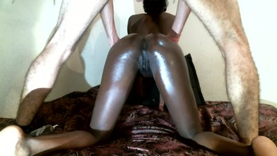 Ebony Teen Fucked From Behind