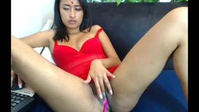 Indian Girl Plays With Her..